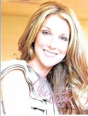 Celine Dion Signed 8X10 Autograph Photo Reprint Plus Free 7 Jours Magazine