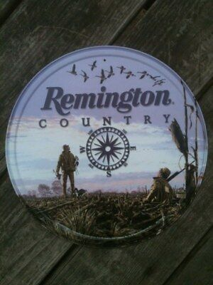 New Remington Country Nostalgic Round Tin Metal Sign Man Cave or Garage NR!!!