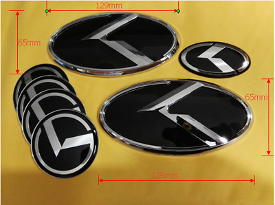 7pcs/set 3D k Logo Emblem Sticker for KIA new Forte YD K3 2014 2015