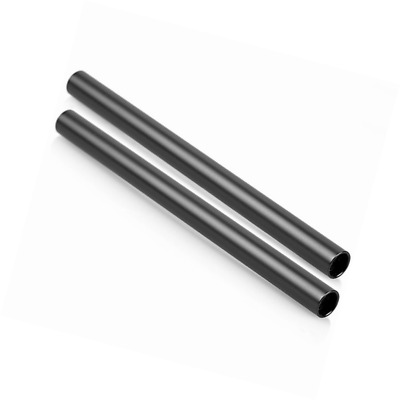 Patuo Camera Aluminum 15mm Rods 10 Inches Long with M12 Thread for Dslr Camera 1