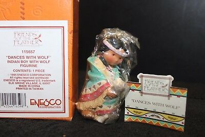 Enesco Friends of the Feather 'Dances with Wolf' #115657 - NIB