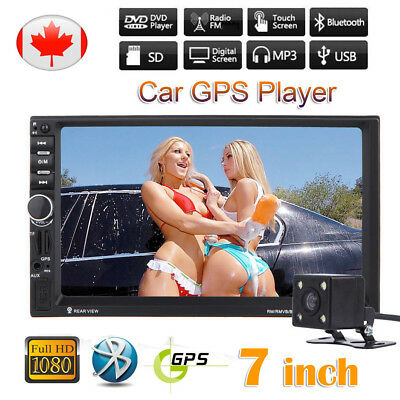 """7"""" HD Car Stereo Touch MP3 MP5 Player 2 DIN Double Bluetooth Radio GPS + Camera"""
