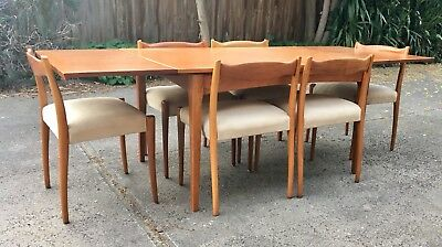 Fler 64 Dining table and 6 chairs. Teak mid century parker danish style