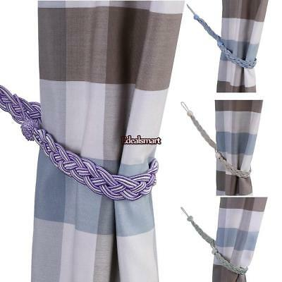 Braided Satin Rope Curtain Tie Backs -Tiebacks Holdbacks Curtain & Voile EF