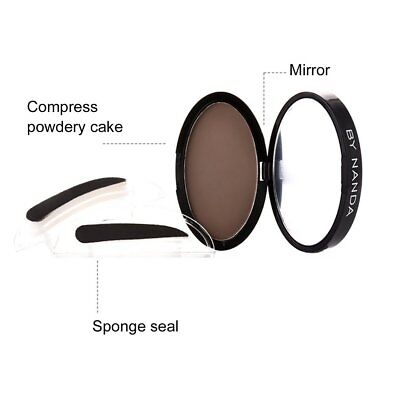 by nanda Eyebrow Powder Seal Waterproof Stamp Straight Curved Shape StampSQ