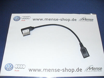 Original Volkswagen Adapter für Multimediabuchse MEDIA-IN auf USB 000051446B NEU