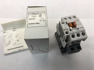 CRC-22 CRC22 Orion Cerus 3 pole contactor 480v Coil With Aux Contacts NOS