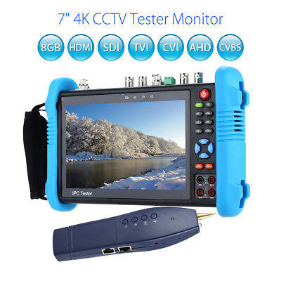 "12V 7""4K CCTV IP HD Test Monitor HDMI 8GB SDI TVI CVI AHD CVBS Camera Tester TFT"