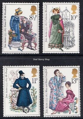 GB 1975 Birth Bicentenary of Jane Austen Complete Set SG989 - 992 Unmounted Mint