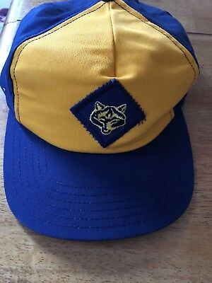 M/L Snap Back Blue BSA Official Boy Scouts of America Wolf Cub Baseball Cap Hat