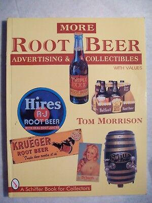 VINTAGE ROOT BEER PRICE $$$ GUIDE COLLECTOR'S BOOK Includes Signs Bottles Cans