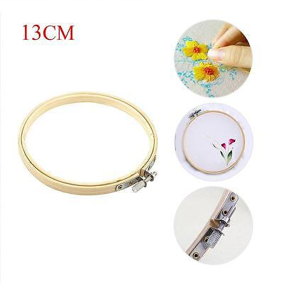 Wooden Cross Stitch Machine Embroidery Hoops Ring Bamboo Sewing Tools 13CM HL
