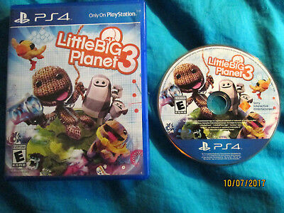 LittleBigPlanet 3 (Sony PlayStation 4) PS4 Action adventure platformer game