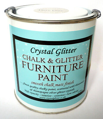 Chalk & Glitter Paint, Furniture, Dove Grey, shabby chic,+ holographic crystals