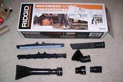 Rigid Heavy Duty Industrial Accesory Kit For Wet/dry Vacuum - 8 Pcs - New In Box