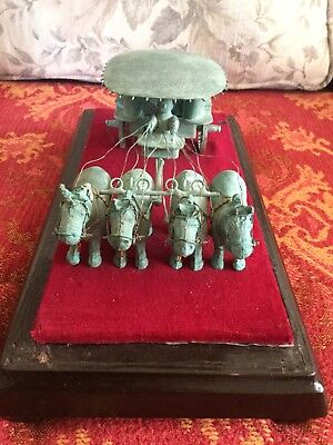 Antique Chinese's cast iron emperor carriage model