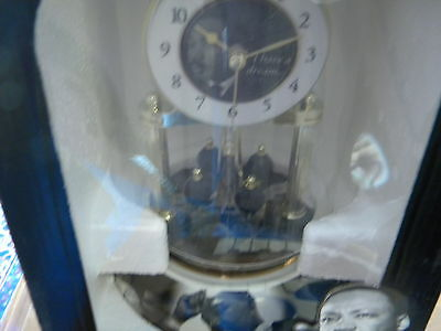 New  In  Box  Mlk Jr .  50Th Annivesary Glass Dome  Clock  Never Opened