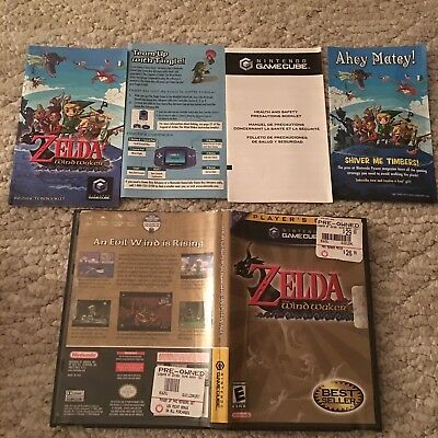Legend of Zelda: The Wind Waker (Nintendo GameCube, 2003) Complete With Manual