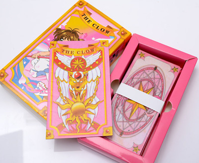 Cardcaptor Sakura cards with boxes Captor Sakura Clow Cards Cosplay Anime Pink