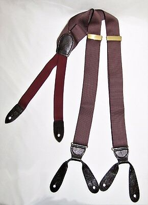 Vintage COLE HAAN Vertical Striped Braces Suspenders One Size Adjustable