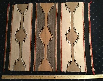 "Fine Antique Navajo Eye Dazzler Saddle Blanket 30"" By 23.5"" Prof. Cleaned NR!!!!"
