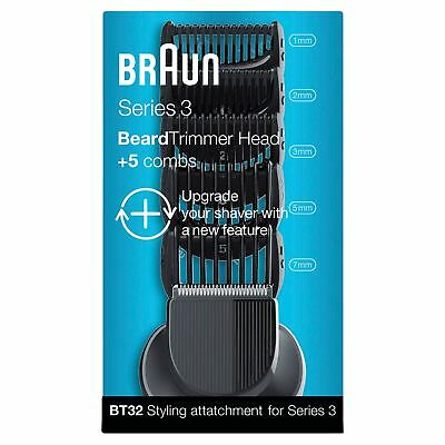 Braun BT32 Series 3 Electric Shaver Beard Trimmer Attachment with 5 Combs, Black