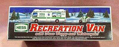 1998 Hess Recreational Van With Dune Buggy and Motorcycle Collectible Toy