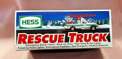 1994 Hess Rescue Truck Collectible Toy New In Box