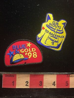 Cub / Boy Scout Patch Lot - Blue & Gold Cap '98 & Scouting Backpack S69S