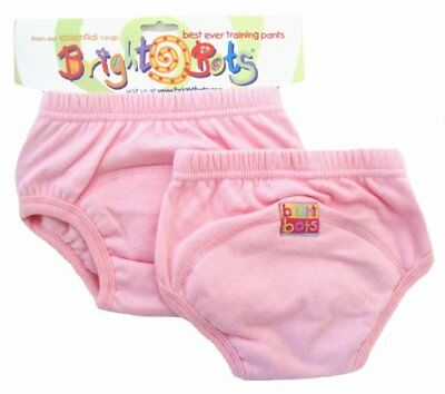 Bright Bots Potty Lot de 2 culottes d'apprentissage pour bébé Rose pastel Tail