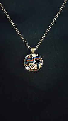 Ancient Egyptian symbol of protection Eye of Horus bronze pendant Gift for Her