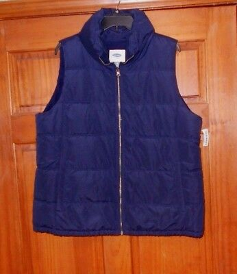NEW NWT OLD NAVY PUFFER VEST SIZE XL WOMENS Fleece Lined Navy