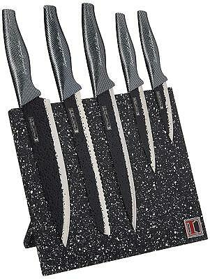Imperial Collection Stainless Steel 6-Piece Knife Set with Magnetic Knife Block