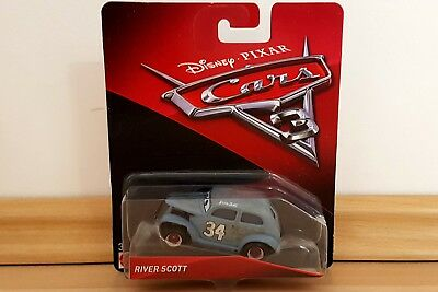 Disney Cars 3 2017 RIVER SCOTT 1:55 von Mattel aus Metall *OVP*