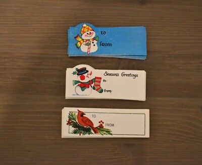 VINTAGE 1960s-1970s CHRISTMAS TAG LOT 3 DIFFERENT DESIGNS-30 TAGS-NEW
