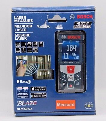 BOSCH GLM 50CX 165ft LASER MEASURE.((BLUETOOTH)) ((BRAND NEW FACTORY SEALED)).