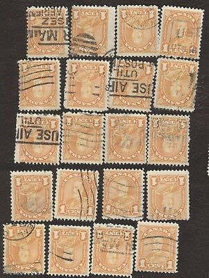 Stamps Canada # 162, 1¢, 1930, lot of 20 used stamps.