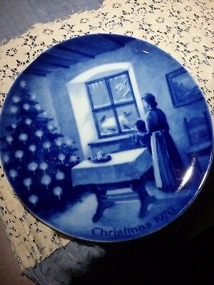 KAISER PLATE 1970 WAITING FOR SANTA CLAUS FIRST ISSUE Made in West Germany