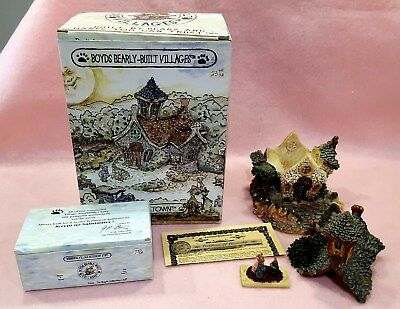 """Boyds Bears """" The Chapel In The Woods"""" Bearly Built Villages Retired NIB"""
