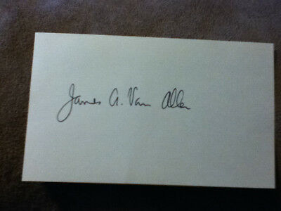 James Van Allen Signed 3X5 Index Card