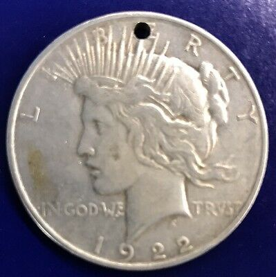 1922 D Silver Peace U.S. Dollar Coin Beautiful Rare Authentic $1 Coin