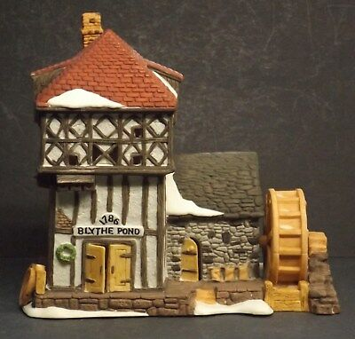 Dept 56 Blythe Pond - By The Pond Dickens' Village Mill w/Original Box 1986