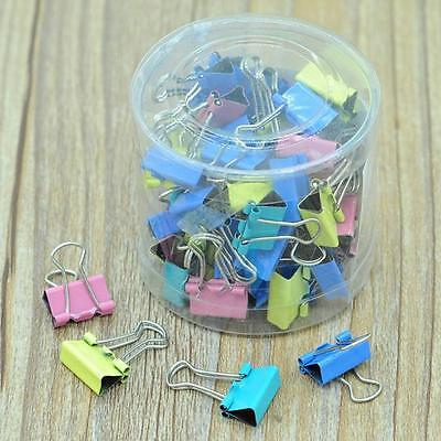 60x Metal Paper File Ticket Binder Clips 15mm Office School Supply Clip NEW1