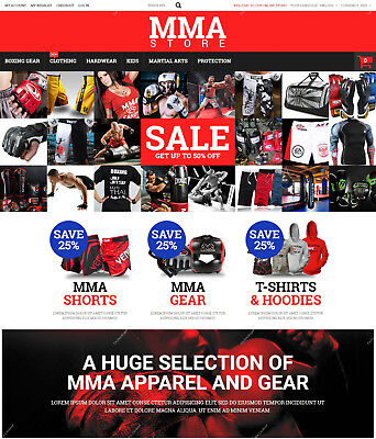 Create MMA Clothes and Gear Shopping Store - Martial Arts Responsive Websites