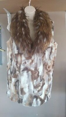 medium womans real fur adrienne landau vest