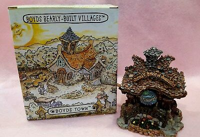 """Boyds Bears """" Cocoa's House Of Chocolate"""" Bearly Built Villages Retired NIB 1E"""