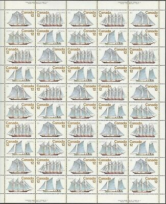 Stamps Canada # 744-747, 12¢, 1977, 1 sheet of 50 MNH stamps.