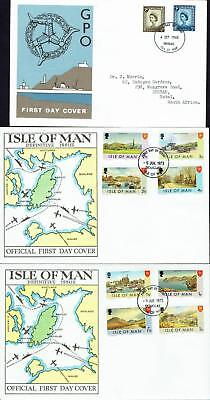 Isle of Man, First Day Covers 1968-73, USED, FDC552