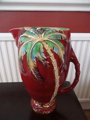 Vintage Beswick Art-Deco Palm Tree Jug / Pitcher.