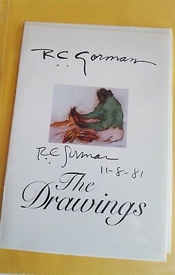 R.C. Gorman Collectors Binder with actual (non-lithographed) signatures